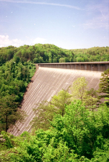 View Of Fontana Dam At Start Of GSMNP
