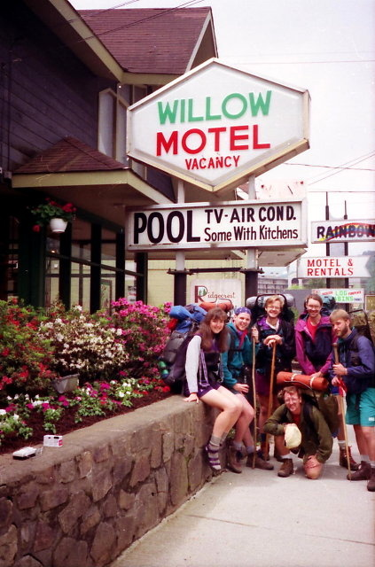 Thru-Hikers At The Willow Motel, Gatlinburg, Tennessee