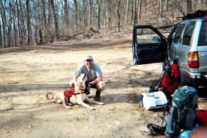 At Nimblewill Gap (On The Approach Trail)
