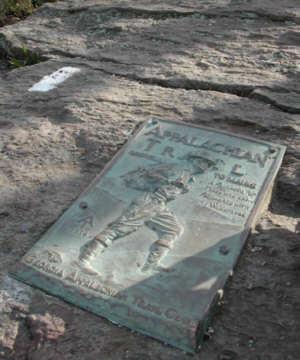 Appalachian Trail Plaque of Earl Shaffer