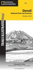 Denali National Park Hiking And Backpacking Topographical Map