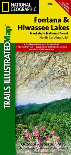 Fontana and Hiwasee Lakes Trail Map