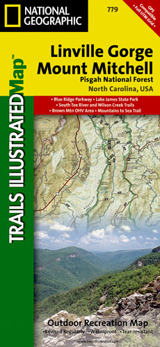 Linville Gorge-Mt. Mitchell - Pisgah National Forest Trail Map