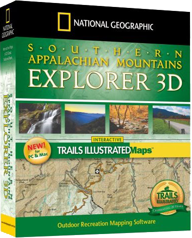 National Geographic Maps Southern Appalachian Mountains Explorer 3D