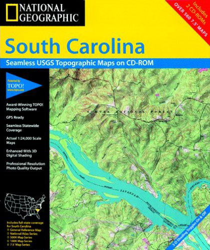 National Geographic TOPO! South Carolina Map CD-ROM (Windows)