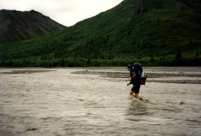 Crossing The Toklat River