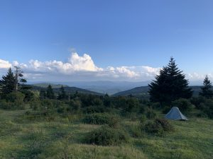 Campsite in the Jefferson National Forest